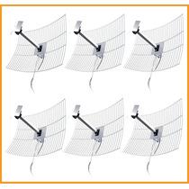6 Antenas De Grade Aquário De 20 Dbi Com Cabo 10m Mm2420-f10