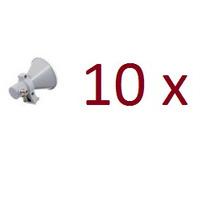 Kit 10 Corneta Disco Offset 5.8ghz Dupla Polarização Aquário
