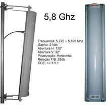 Antena Painel Setorial 5,8ghz 21dbi 120° Horizontal