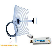 Kit Cliente Wireless Usb + Cabo 10 + Antena Aquário 20 Dbi