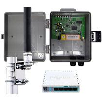 Kit Provedor Wireless Profissional Mikrotik + Pcba + Antena