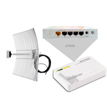 Kit Transmissor Wireless Wifi Completo Via Radio 21 Dbi