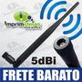 Antena Wireless 5dbi Omni 2.4ghz Bgn - Roteador, Rede S/ Fio
