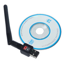 Adaptador Wireless Usb Wifi 300mbps Lan B/g/n Com Antena