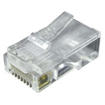 Pacote 100 Peças Conector Rj 45 Cabo Rede Lan Plug Ethernet