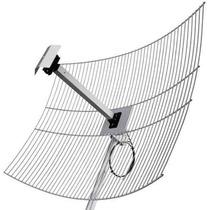 Antena Parábola De Grade 2.4 Ghz 25dbi Para Internet Cabo 1m