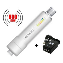 Ubiquiti Bullet 2-hp 2.4ghz 800mw + Fonte Poe Original 24v