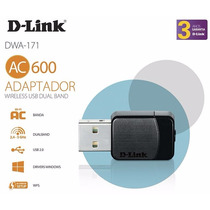 Adaptador Dual Band Usb Ac 600 Sem Fio Lan A/ac/b/g/n Dwa171