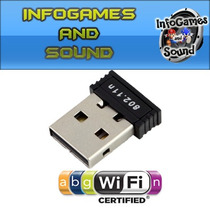 Micro Adap Wireless Usb Wifi 150mbps(pc/notebook/receptores)