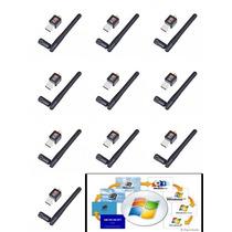 Adaptador Wireless Usb Wifi 300mbps Pc Not Tablet Kit 10 Un