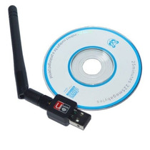 Adaptador Wireless Usb 300mbps Com Antena E Disco Com Driver
