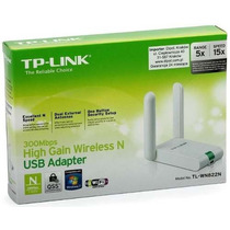 Adaptador Tp-link Usb Wireless N300mbps Tl-wn822n Mauá Abc