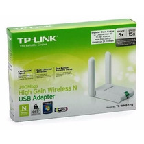 Adaptador Wireless Usb 300mpbs Tp-link Tl-wn822n 2 Antenas