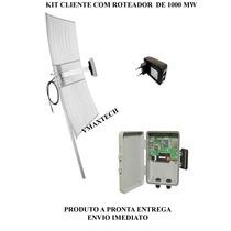 Kit Cliente Com Roteador De 1000mw B/g/n Ponto A Ponto