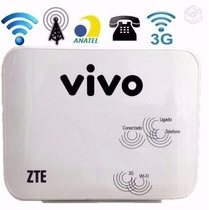 Roteador Vivo Box Zte® Mf23 Modem Wi-fi Voz 3g Wireless