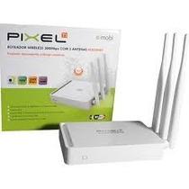 Roteador Wireless 300mbps C/ 03 Antenas 5dbi + Garantia +nf