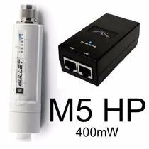 Ubiquiti Bullet M5 Hp 5.8 Ghz 400mw + Fonte Poe Original 24v
