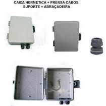 Caixa Hermetica + Prensa Cabo + Suporte + Abraçadeira