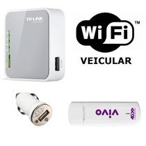 Kit Wi-fi Veicular | Miniroteador + Modem 3/4g | 10 Usuários