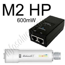 Ubiquiti Bullet-m2-hp Outdoor 2.4ghz 600mw + Fonte Grátis