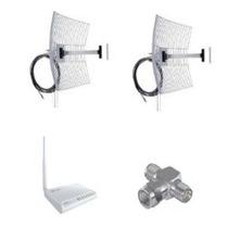 Kit 2 Antenas Aquário 25 Em Um Rádio Wr2500 1000mw +conector