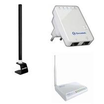 Kit Wr2500hp Roteador Wireless 1000mw +repetidor + Antena 10