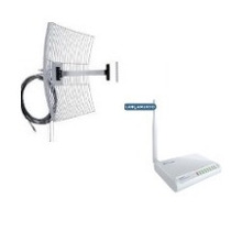 Kit Wr2500n Roteador Wireless Greatek 1000mw + Grade 25 10m
