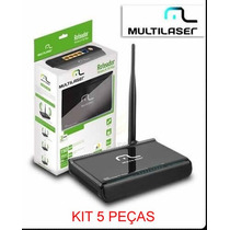 Kit Com 5 Peças Wireless Router 150mbps Multilaser Re046