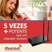 Roteador N 300mbps High Power 500mw Re074 - Multilaser