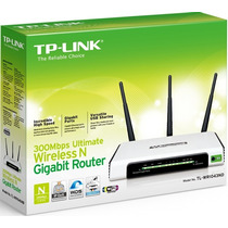 Roteador Wireless 300mbps Tp-link Tl-wr1043nd Wifi 3 Antenas