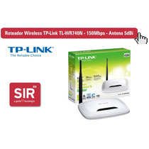Roteador Wireless Tp-link Tl-wr740n - 150mbps - Antena 5dbi