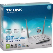 Modem Roteador Adsl2 Wireless 300mbps Tp-link Td W8968 Usb