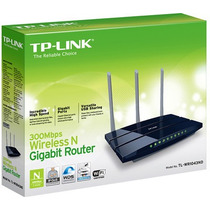 Wireless Gigabit Router Tp-link Tl-wr1043nd (300mbps) C/ 3