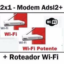 Roteador E Modem Adsl2 Opticom Dslink 477-m1