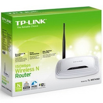 Roteador Wireles 150mbps Tl-wr741nd Tp-link Antena Removivel