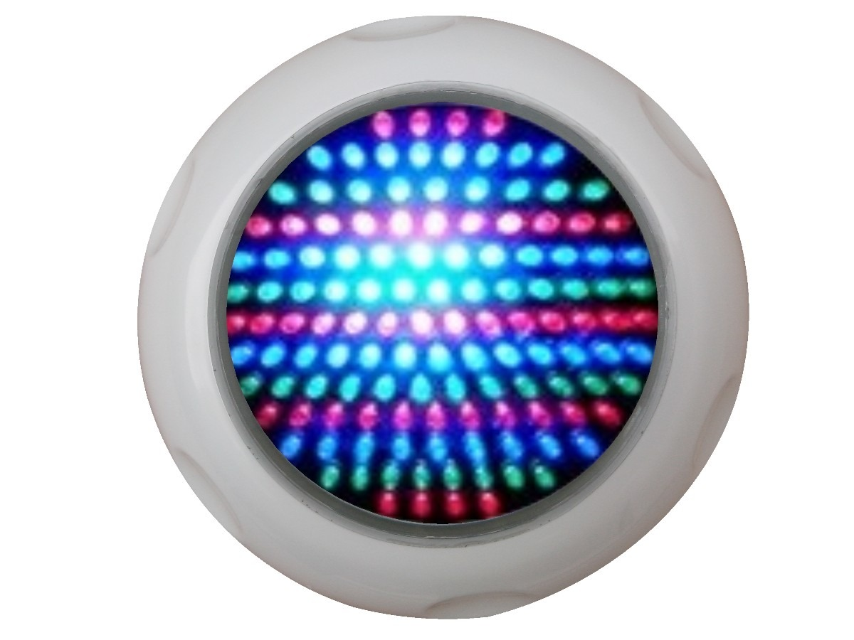 Refletor para piscina led 70 pratic abs rgb r 190 00 no for Luminarias para piscinas