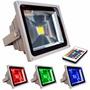 Refletor Holofote Led Rgb 10w Ip65 Bivolt - Frete Grátis