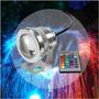 Refletor Holofote Super Led Rgbw 10w /12v Piscina E Jardins