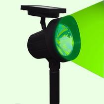 Refletor Solar Luminária Jardim Spot Luz Cor Verde Super Led