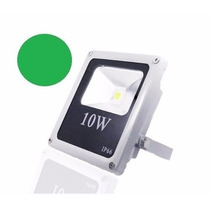 Refletor Led 10w Verde Melhor Preço Prova D