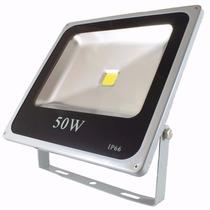 Refletor Led 50w - Holofote Branco Frio - Ip66 Bivolt Slim
