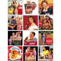 Propagandas Antigas I - Coca Cola - 12 Imas De Geladeira
