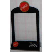Coca-cola Porta-menu De Mesa Acrílico Antigo 19x12cm 5cmbase
