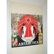 Poster Cartaz Propaganda Antiga Antarctica.crush.brahma.