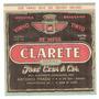 Rótulo Do Vinho De Mesa Tinto Clarete - Safra 1956