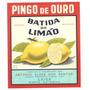 Rótulo Antigo Da Batida De Limão Pingo De Ouro