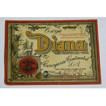 Rótulo Antigo Da Cerveja Diana (continental)