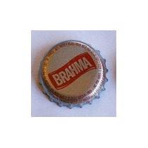 Tampinhas Antigas - Cerveja Brahma (fundo Prata) Anos 2000
