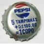 Tampinhas Antigas - Refrigerante Pepsi Promoção Copo 5x1