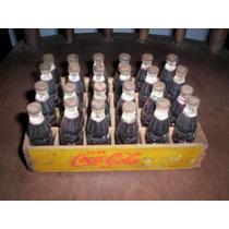 Engradado Com 24 Minigarrafas Coca Cola 1954